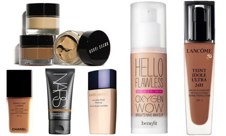 Bobbi Brown Extra Repair Foundation, Benefit Hello Flawless