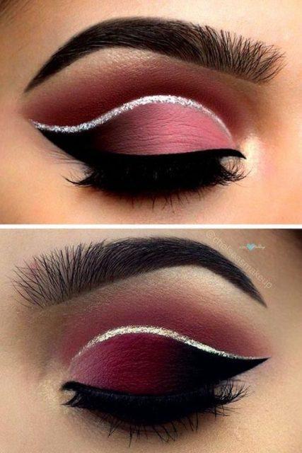 fall makeup, sunkissed look, makeup ideas 2019, makeup tips 2019, red lipstick, thick eyelashes, false eyelashes, dark eyes, black eyeliner,pinmymakeupideas.com